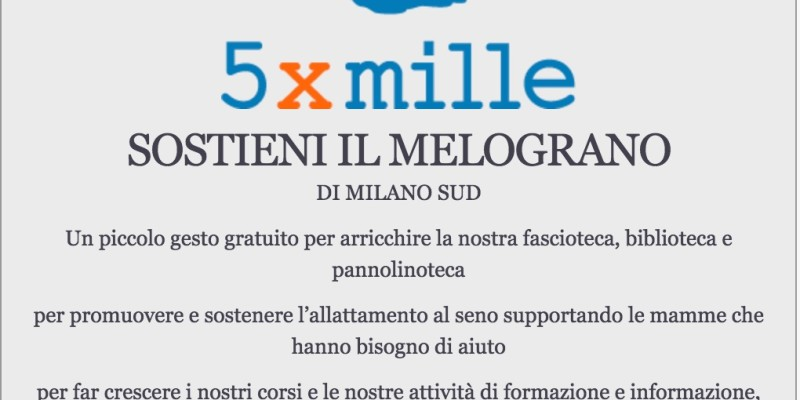 Sostieni Il Melograno di Milano Sud